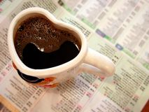 kaffeförälskelse arkivbild
