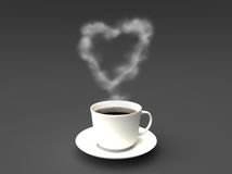 kaffeförälskelse Arkivfoto
