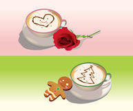 kaffeferie Stock Illustrationer