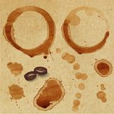 Kaffefläck. Arkivbild