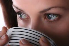 kaffeflicka arkivbild