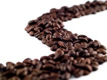 kaffeflod för 2 bönor Royaltyfria Bilder
