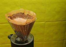 kaffeframställning royaltyfri foto