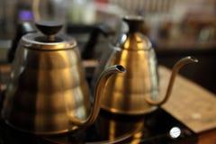 Kaffegarneringobjektet shoppar in bakgrundsdesign Royaltyfri Bild