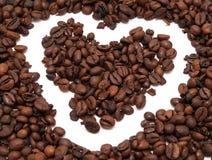 kaffehjärta Arkivbilder
