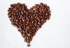 Kaffehjärta Royaltyfri Fotografi