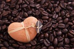 kaffehjärta Fotografering för Bildbyråer