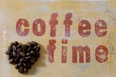 kaffehjärta Royaltyfri Foto