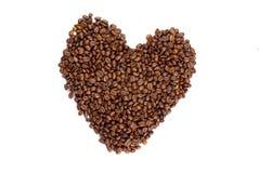 kaffehjärta gjorde Royaltyfri Bild