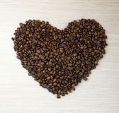 Kaffehjärtabönor Top beskådar klart bruk för bakgrundskaffe Royaltyfri Bild