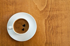 kaffehjärtapar Royaltyfria Foton