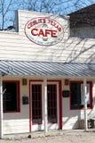 Kaffehus i komfort Texas arkivbilder
