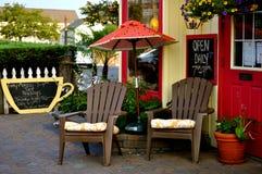 kaffehus utomhus Arkivbild