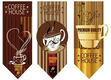 Kaffehusbakgrunder Royaltyfria Foton