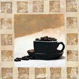 kaffeillustration Arkivbilder