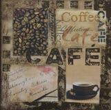 kaffeillustration Arkivfoton