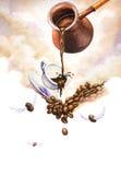 kaffeillustration royaltyfri illustrationer