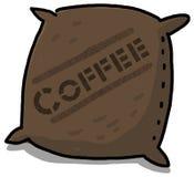 kaffeillustrationsäck Fotografering för Bildbyråer