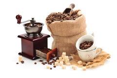 Kaffeingredienser Royaltyfria Bilder
