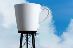 kaffejätten rånar behållartornet Royaltyfria Bilder