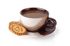 kaffekakor upp Arkivfoton