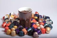 Kaffekapslar Fotografering för Bildbyråer