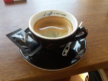 Kaffekonstsvart royaltyfri foto