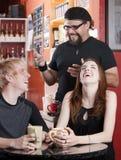 kaffekonversationhus royaltyfri fotografi