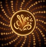Kaffekopp. jazz för böna coffee.music Arkivfoton