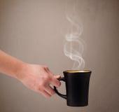 Kaffekopp med abstrakt vit ånga Royaltyfria Foton
