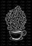 Kaffekopp med den abstrakta prydnaden Fotografering för Bildbyråer