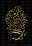 Kaffekopp med den abstrakta prydnaden Royaltyfria Bilder