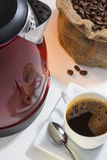 Kaffekopp med reflexion Royaltyfri Fotografi