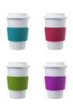 Kaffekopp med silikonhållaren Arkivfoton
