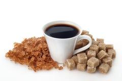Kaffekopp med socker Royaltyfri Bild