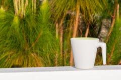 Kaffekopp med solljus i morgontid Royaltyfri Bild