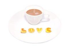 Kaffekopp och kaka Fotografering för Bildbyråer