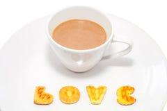 Kaffekopp och kaka Royaltyfria Foton