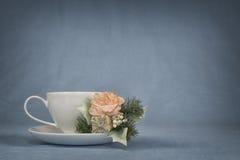 Kaffekopp och lilla Boquet 11 Arkivbilder