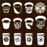 Kaffekopp som går Arkivfoto