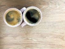 kaffekopp som isoleras över white för övre sikt arkivfoto