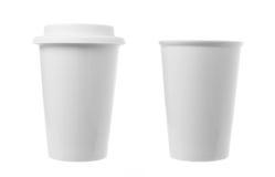 Kaffekopp som isoleras på vit Arkivbilder