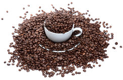 kaffekopp som mycket för isoleras Royaltyfri Bild