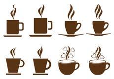 kaffekoppar royaltyfri illustrationer