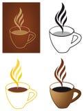 kaffekoppar vektor illustrationer
