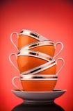 kaffekoppar Arkivbild