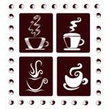kaffekoppar fyra Royaltyfri Fotografi