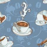 kaffekoppar mönsan seamless Arkivbilder