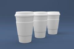 Kaffekoppar som är klara för din logo Royaltyfri Bild