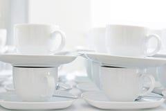 kaffekoppar tömmer Arkivfoto